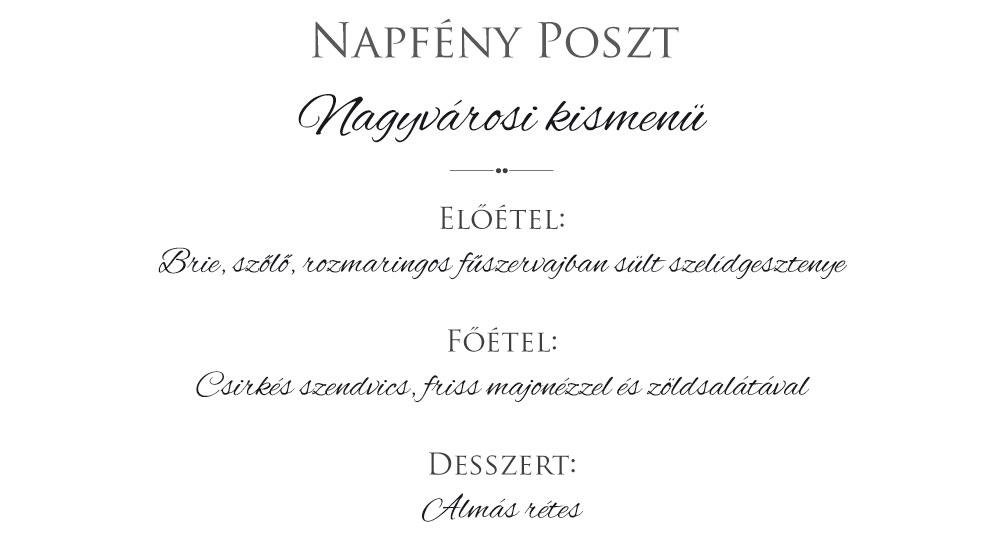 menu kartya gesztenye
